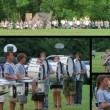 Marching Band Performing Composite — Stock Video