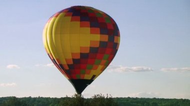 Hot Air Balloon Glowing — Stock Video