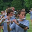 Stock Video: Band Playing Flutes