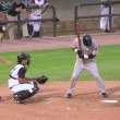 Batter Gets Base Hit — Stock Video