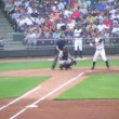 Batter Hits Fly Ball — Stock Video
