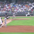 Stock Video: Baseball Out At First Base 02