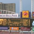 Stock Video: Electronic Baseball Scoreboard