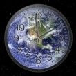 Stock Video: Earth Clock Time Lapse
