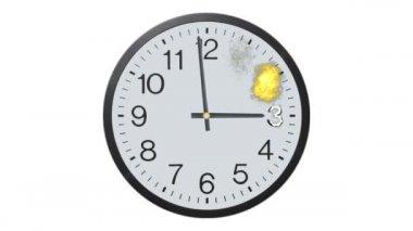 Exploderar tidsinställd klocka — Stockvideo