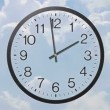 Stock Video: Clock With Clouds Time Lapse