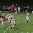 Stock Video: Football Reception and Tackle