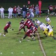 Stock Video: Quarterback Touchdown Pass