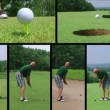 Golfer Teeing Off With Driver — Stock Video #14514727