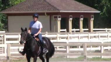 Female Equestrian Student — Stock Video