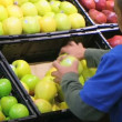 Stock Video: MFacing Apples In Produce