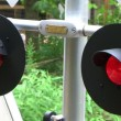 Flashing Railroad Crossing Signal — Stock Video