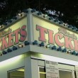 Stock Video: Ride Tickets Sign