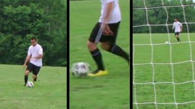 Soccer Player Composite — Stock Video