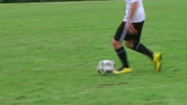 Soccer Player Dribbling — Stock Video #14550793