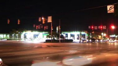 Busy Intersection Time-Lapse — Stock Video