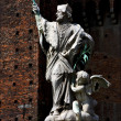 Statue in the castle - Stock Photo