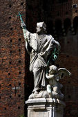 Statue in the castle — Stock Photo