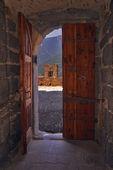 The castle inside the door — Stock Photo