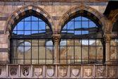 Piazza dei mercanti milano — Stock Photo