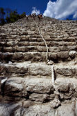 The stairs of coba — Stock Photo