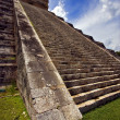 Stock Photo: Stairs of quetzalcoatl
