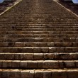 The stairs of chichen itza temple kukulkan - Stock Photo
