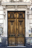 Brown wood old door argentina — Stock Photo