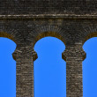 Old window and wall in plaza de toros - Stock Photo