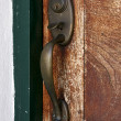 Foto Stock: Knocker and wood