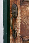 Knocker and wood — Stock Photo