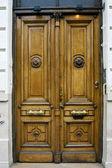 Brown wood old door in buenos aires — Stock Photo