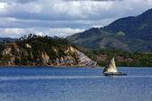 Cerro laguna tropical — Foto de Stock
