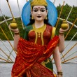 Wood statue of a Hinduism  women — Stock Photo