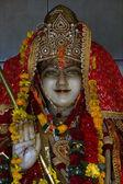 Pedra preciosa estátua de madeira mármore de uma mulher do hinduísmo — Foto Stock
