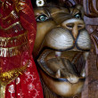 Hinduism  head of lion — Foto Stock