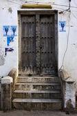 Zanzibar stone town brown wood — Stock Photo