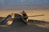 Nosy be boat oar — Stock Photo