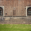 Stock Photo: Grass of castle sforzesco milan