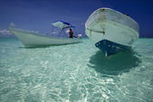 Relax two boats — Stock Photo