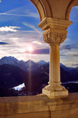 Sun old marble and column reflex — Stock Photo
