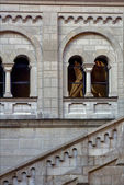 Window reflex in Neuschwanstein germany — Stock Photo