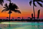 Parasol lagoon and coastline — Stock Photo