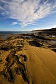 Sky water coastline and summer in lanzarote spain — Stock Photo