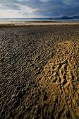 Vaggar stenen sky moln stranden vatten kustlinje och sommaren — Stockfoto