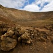 Vulcanic timanfaya  rock stone sky  hill and summer in los volca — Stock Photo