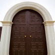 Church door and white wall lanzarote — Stock Photo #36082819