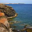 Water  coastline and summer in el golfo lanzarote — Foto Stock