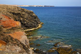 Water coastline and summer in el golfo lanzarote — Photo