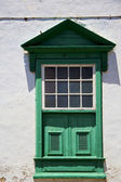 Abstract window green in the white spain — Foto Stock